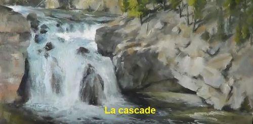 Dessin et peinture - vidéo 3040 : Peindre une chute d'eau ...