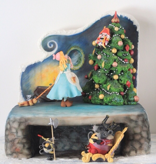 Gingerbread Drum Cake