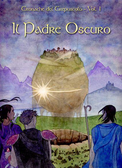 """The Dark Father - watercolour - 2003 (cover for """"Cronache del Crepuscolo - Vol. 1"""" by Ivan Sgandurra, Cogecstre publisher)"""