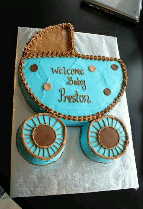 #Baby carriage cake