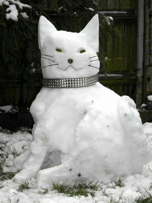 Image result for cat Snowman