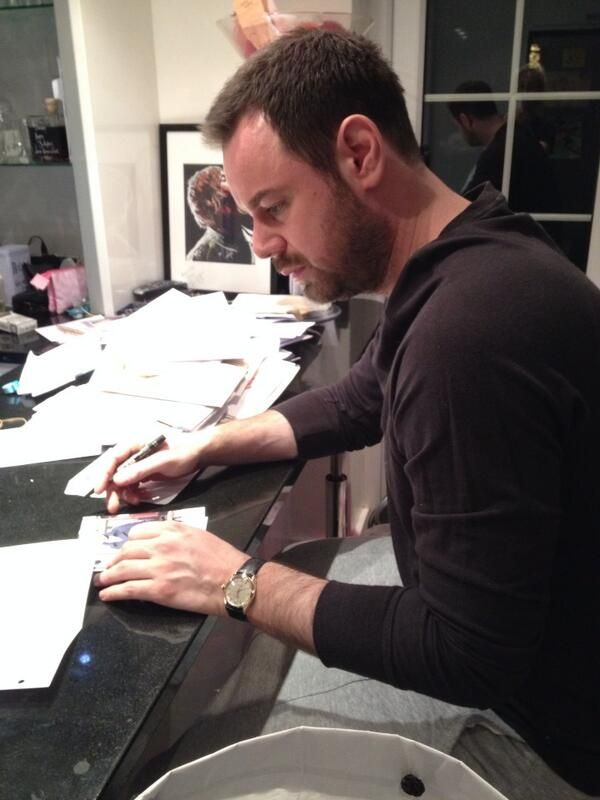 Lovely Danny Dyer signing autographs