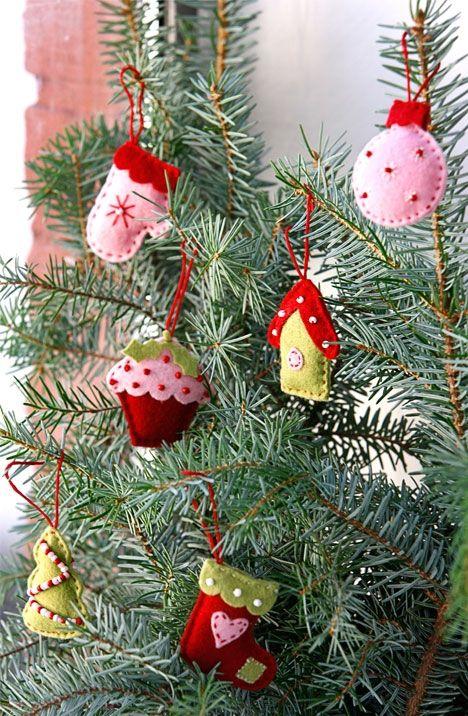 Lav dit eget juletræspynt i filt
