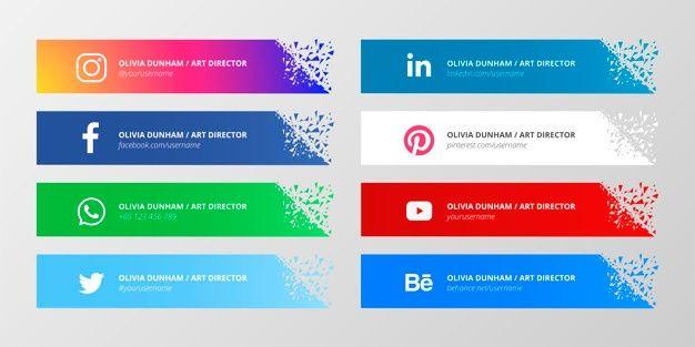 Coleccion De Redes Sociales Tercios Inferiores Descargar Vectores Gratis Desain Banner Ikon Aplikasi Aplikasi