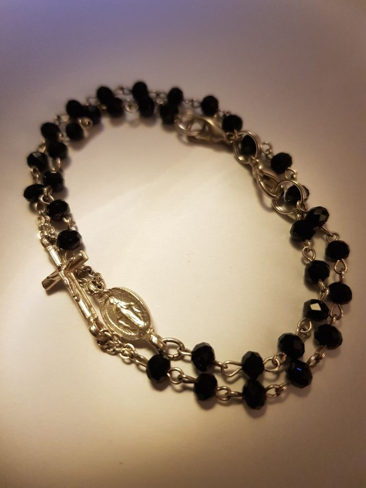 Religious bracelet - recycling of old rosary :-)