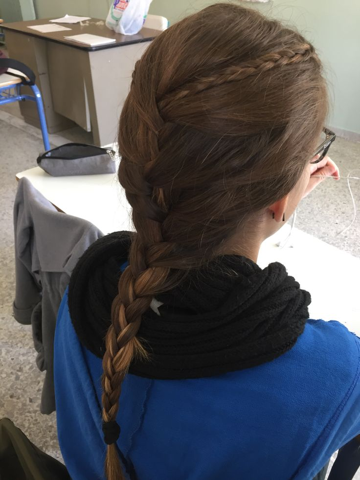 Two simple braids into a French braid for my bestie  •Dbraids•