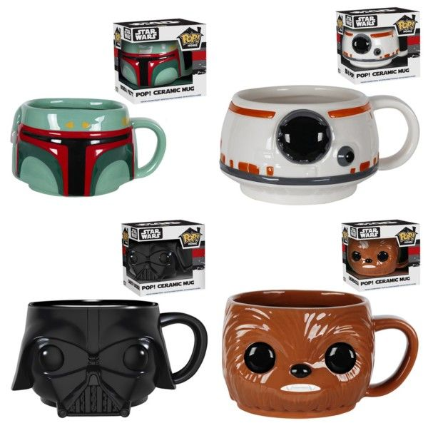 New Star Wars Funko Pop! Mugs Include Vader, Boba Fett, BB-8 And More