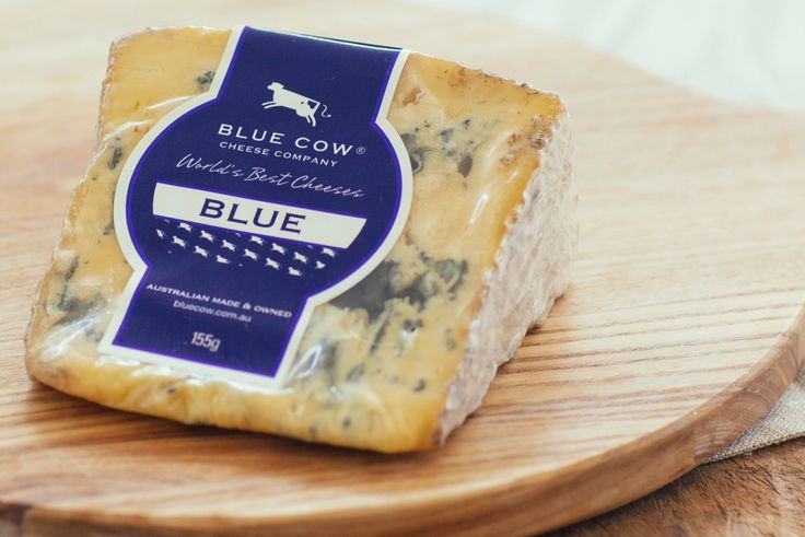 Blue Cow Blue - Made from rich milk sourced in the evergreen pastures of  Gippsland, this cheese exhibits a smooth velvety body,  with a slightly open texture. The flavour is distinctly rich  and creamy with a savoury finish.