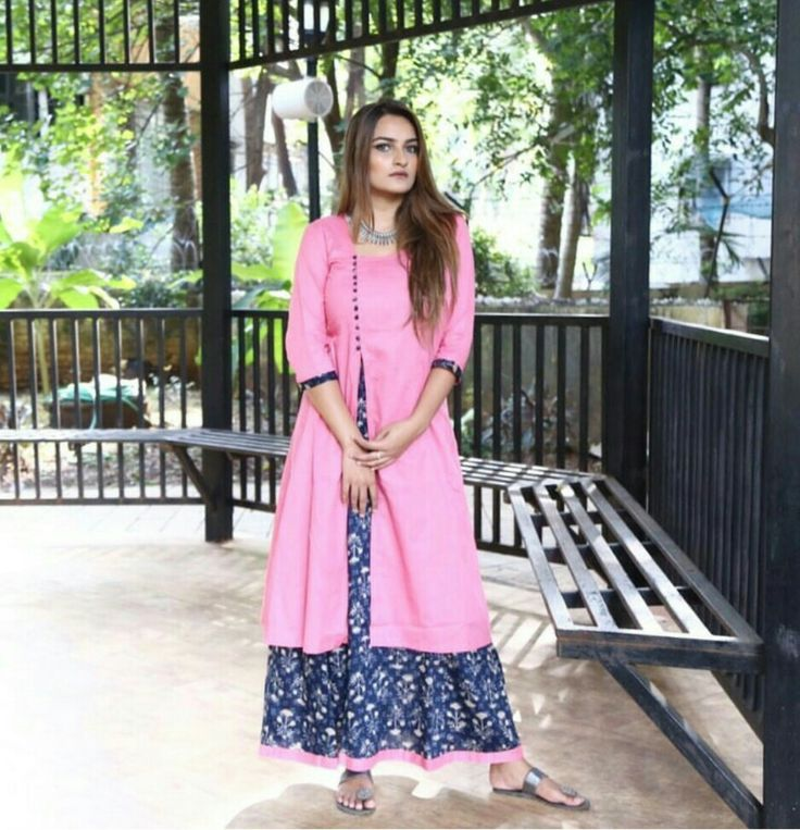Pink and Blue Ikat Layered cotton Maxi Dress.Mumbai based..Delivery all over India and outside India.For details and bookings pls contact on 7400497020 FB link- https://www.facebook.com/Miar-Designs-1039717622785710/