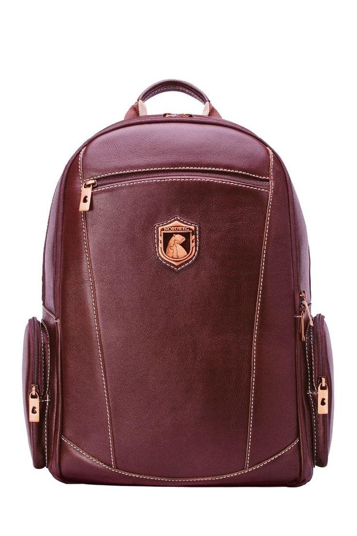 Leather executive rucksack Nordweg... Mochila de cuero ejecutiva Nordweg...