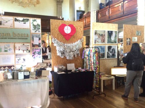 Our display at the Wedding Collective Bridal Market at St. Andrew's in the square last year - beside Com Bossa and Lisa Devine Photography  Luxury handmade wedding decor by Paper Street Dolls  Check out our store - paperstreetdolls.etsy.com
