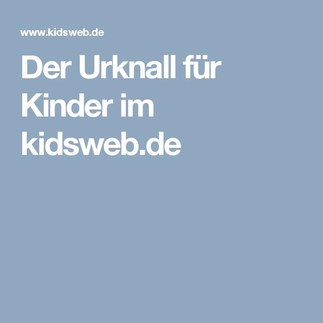 Der Urknall für Kinder im kidsweb.de