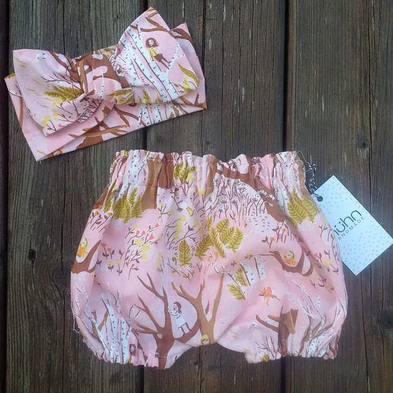 Baby girl bloomers and headwrap set  Diaper cover Cake
