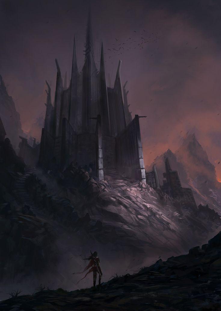 The old, dark, Haunted Castle by JJcanvas.deviantart.com on @deviantART