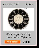 60CM zegar ŚCIENNY drewno 'BEZ TYKANIA' ORYGINAŁ (2686993951) - Allegro.pl - Więcej niż aukcje. Najlepsze oferty na największej platformie handlowej.
