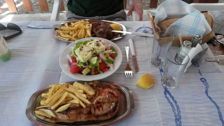 The famous Greek salad is always necessary to the Greek table!