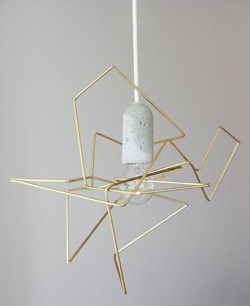 DIY geometric lamp shade via Design*Sponge