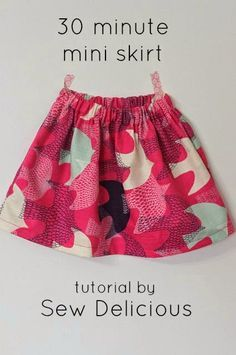 Sew Delicious: 30 Minute Basic Skirt Tutorial