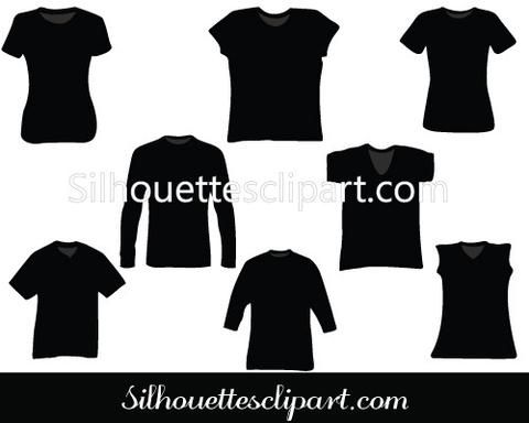 T-Shirt Silhouette Vector Pack
