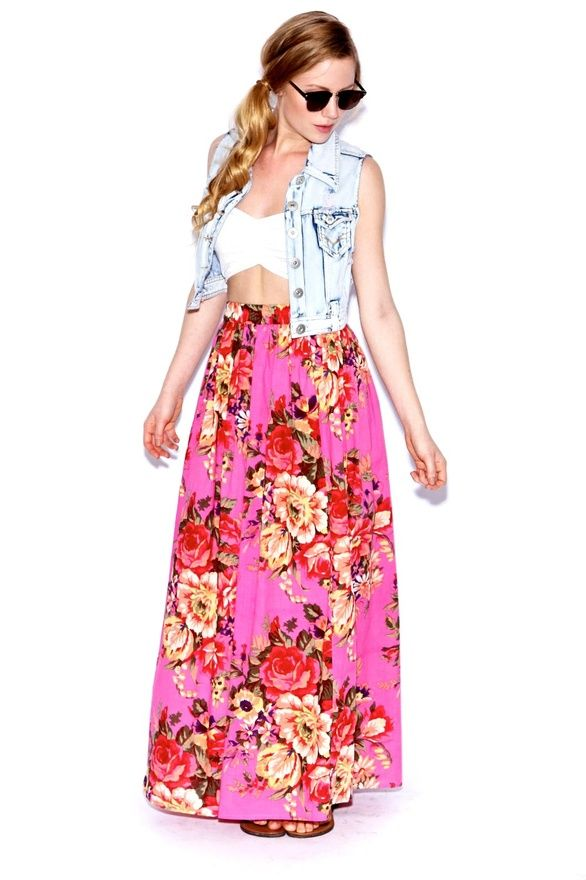 skirts, skirts, skirts: Fashion Sen, Floral Maxis, Http Clothing33 Blogspot Com, Summer Fashion, Floral Skirts, Beauty Clothing, Adult Skirts, Roses Prints, Maxis Skirts