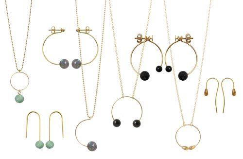 Smykker med anborede halvædelsten