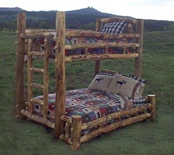 log bunk beds!