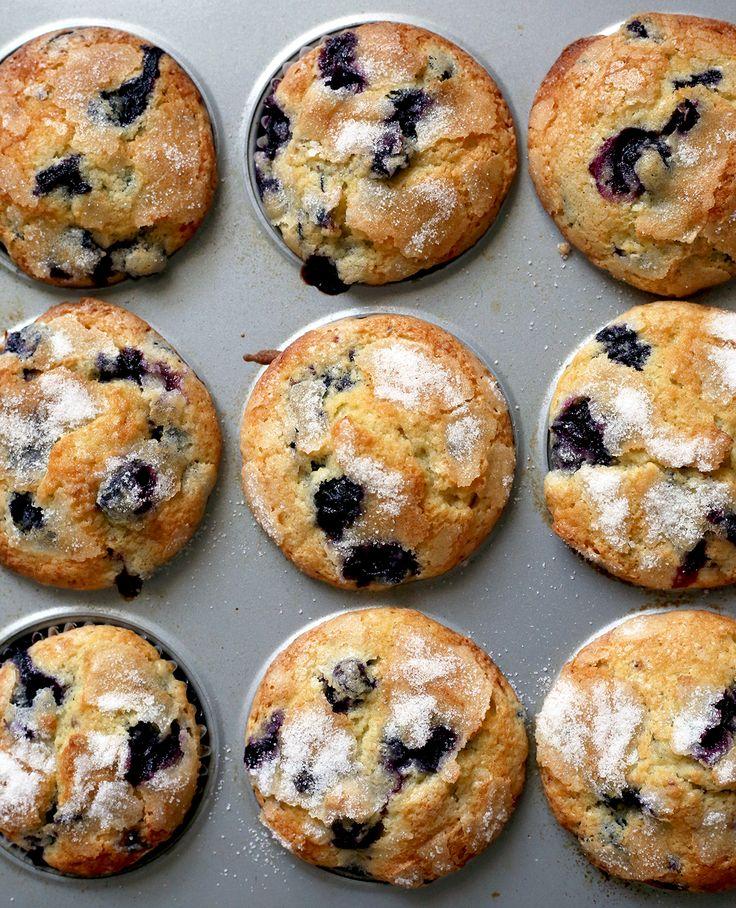 Department Store Blueberry muffins via @kingarthurflour