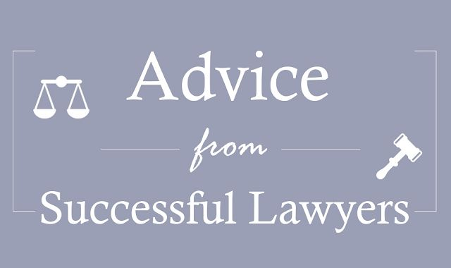 Advice from Successful Lawyers #Infographic