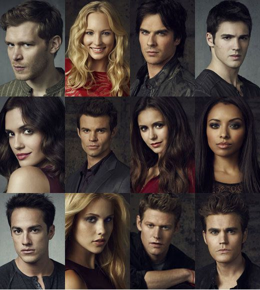 The Perfect And Beautiful Cast Of Vampire Diaries. Its been a couple years since the entire Vampire Diaries cast assembled for a photo shoot -- but for Season 4, there are new pics of everyone.