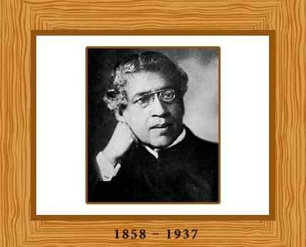 Jagadish Chandra Bose-Physicist, biologist and archaeologist who pioneered the investigation of radio and microwave optics.