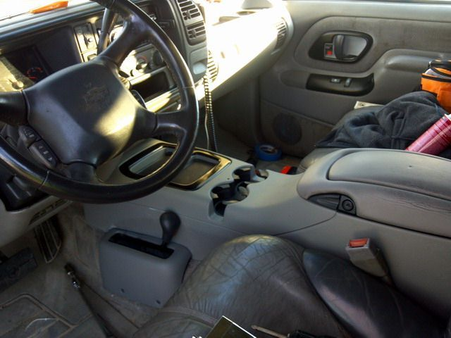 Denali Console in OBS Tahoe WITH floor 4X4 shifter! It fit ...