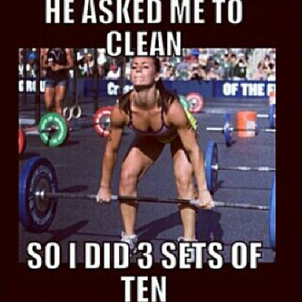 The only cleaning I enjoy. he asked me to clean, so i did 3 sets of ten. gym humor, funnies, funny workout