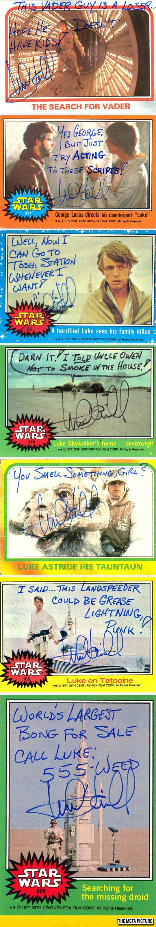 Mark Hamill Autographs Are Apparently Hilarious - this makes me like him even more. I want one!!