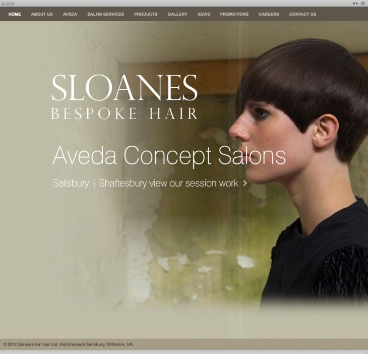 Sloanes wanted a cool, image-led website that reflected their unique brand and promoted their bespoke hair services.