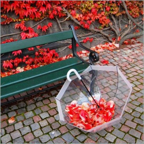 Зонтики под дождем. Галерея фото