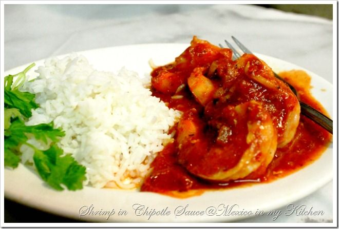Camarones al chipotle. shrimp in chipotle sauce.  Is a great recipe when you have a craving for shrimp and a little spiciness. With a few ingredients and a little time, you too will have a filling and satisfying meal and who doesn't love that?