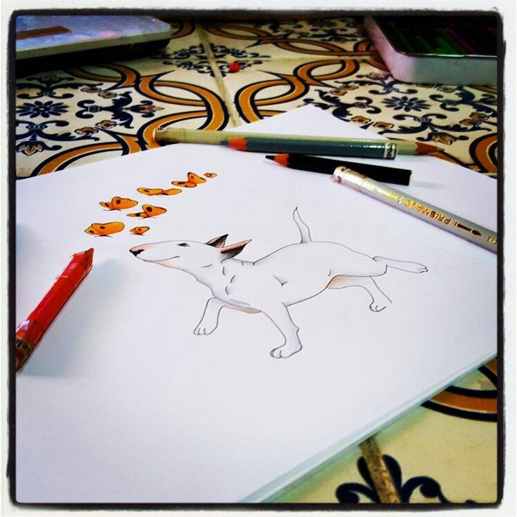 WORK IN PROGRESS: BULLA CON FARFALLE - Pastelli & Rapifograph  By Pamy  #Art #Iloveart #Instaart #FePam #GraphicArt #FePamGraphicArt