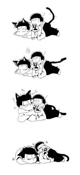 十四松babyと一松cat