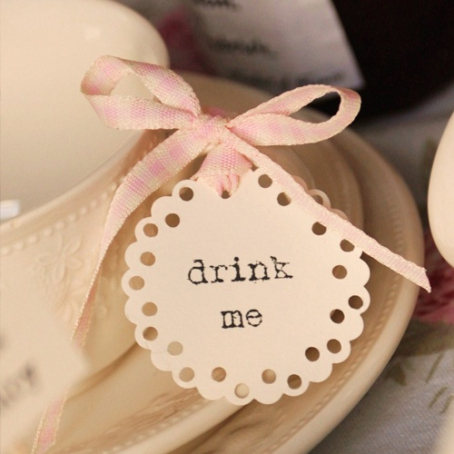 table decor / food labels