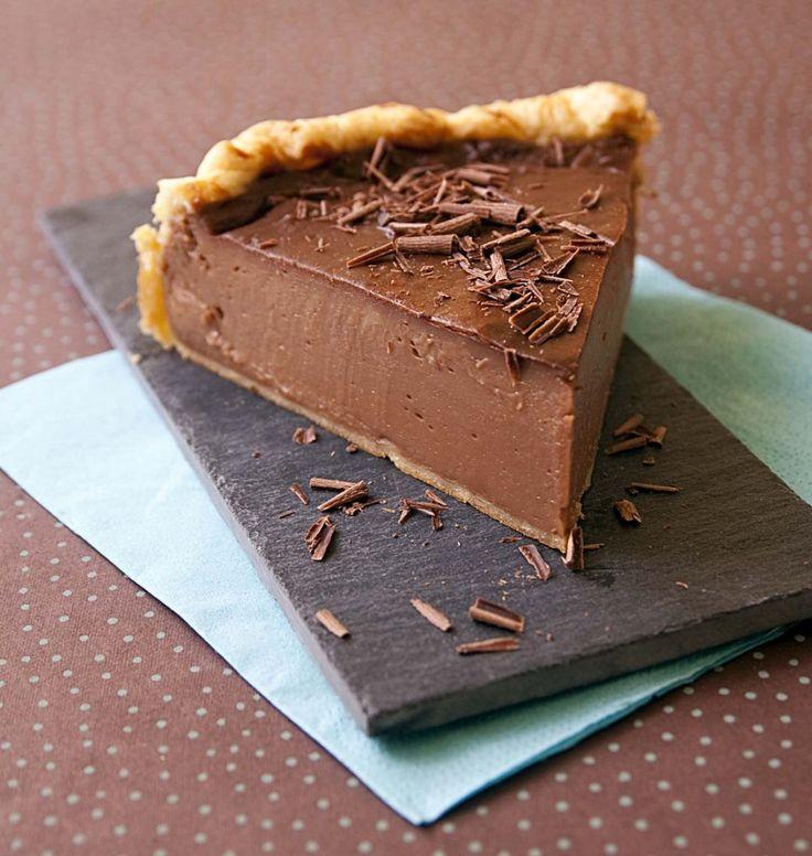 Photo de la recette : Flan pâtissier au chocolat