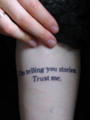 Jeanette Winterson tattoo #2