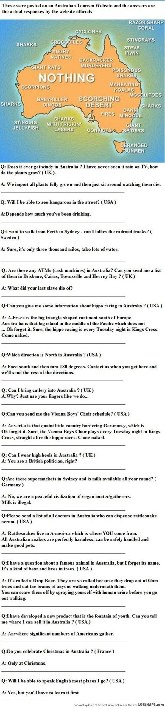 People of the Australian Tourism website… I salute you for this feat of sarcastic greatness.