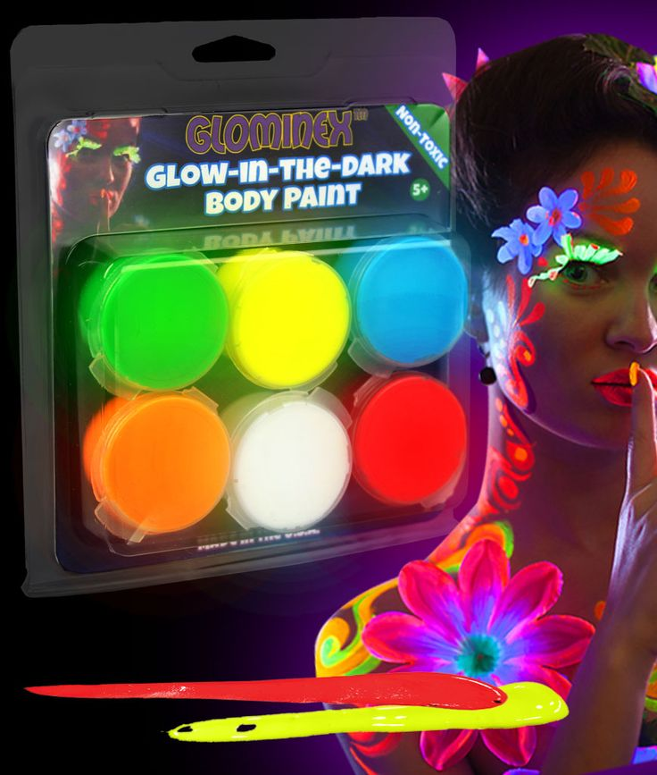 Glow in the dark body paint!