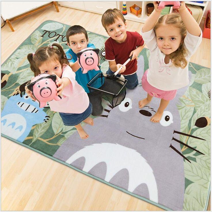 [Visit to Buy]  130 X 185cm TOTORO Children Cartoon Carpets Home Entrance Door Mats Absorbent Non-slip For Living Room Bedroom Kitchen Room #Advertisement