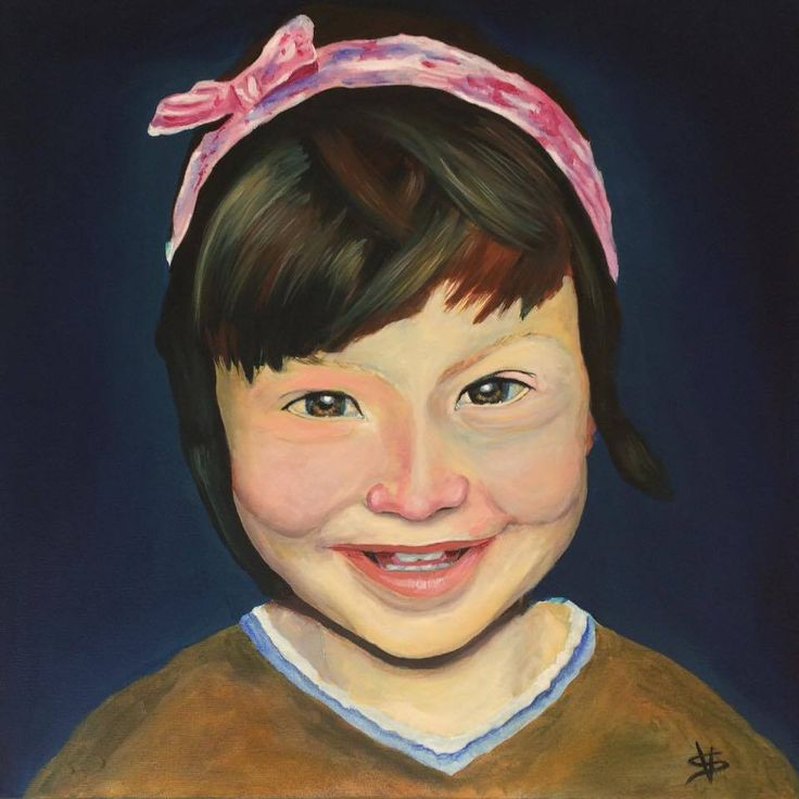 Ioana (oil on canvas – 50x50 cm)