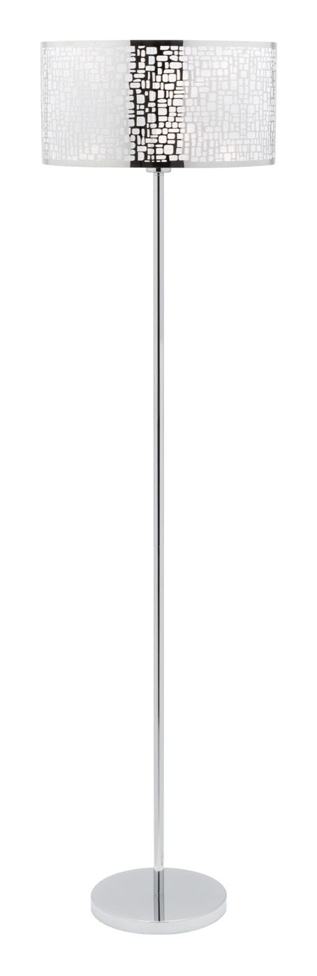 The Ritz floor lamp, with it's silver laser cut shade, will both illuminate a room and project a great pattern on the walls too!