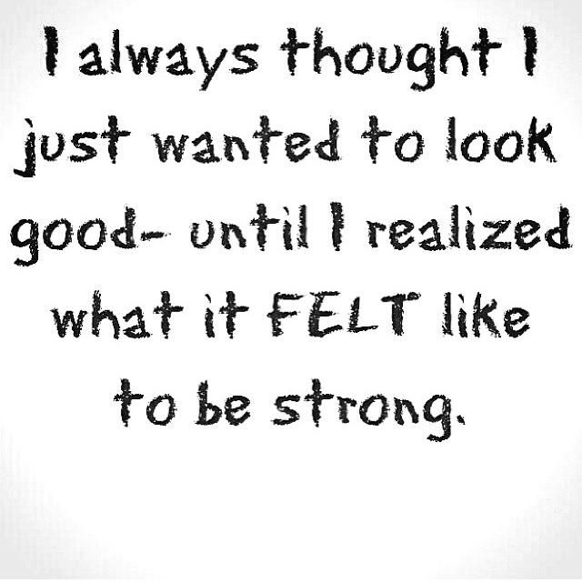 <3 <3 <3 YESSSSSS !!!! (I always say this : Work out to feel good.. the rest will follow -- looking good, etc...)