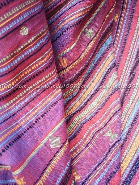 Elegant Handwoven Cotton Bhujodi Kutch Saree