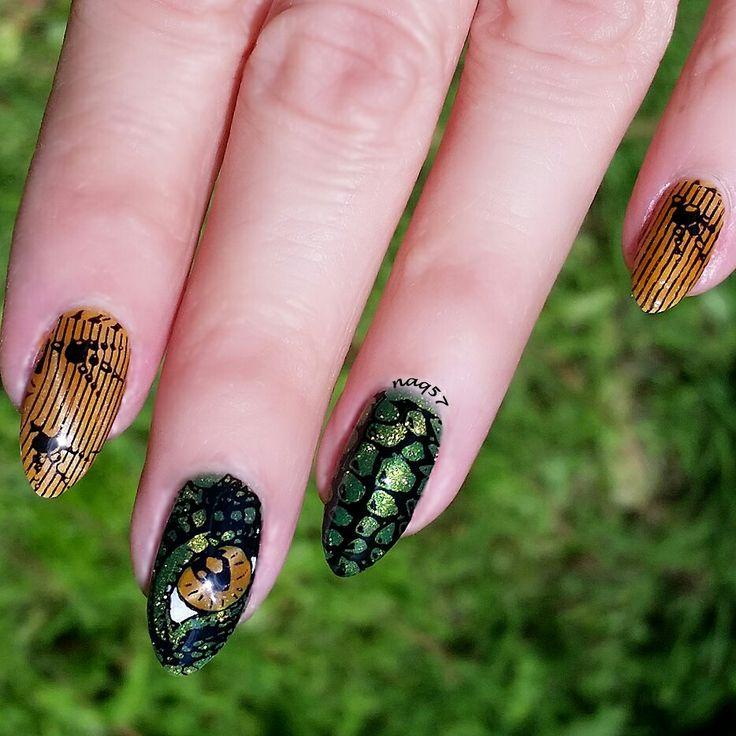 Mejores 21 imágenes de dinosaur nails en Pinterest | Esmalte para ...