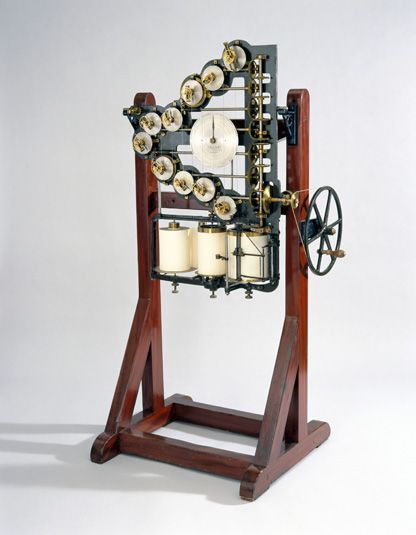 Lord Kelvin's first tide-predicting machine, 1872
